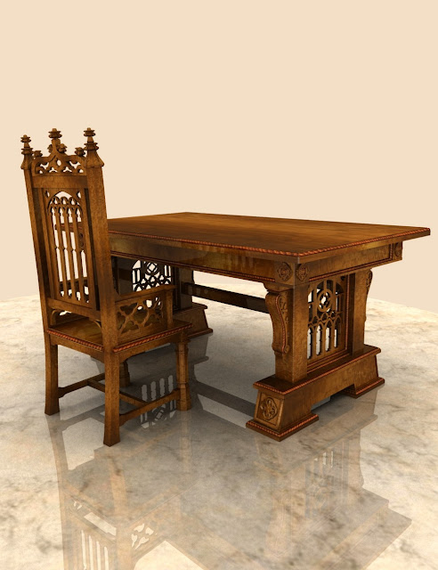 Gothic Desk - Chair