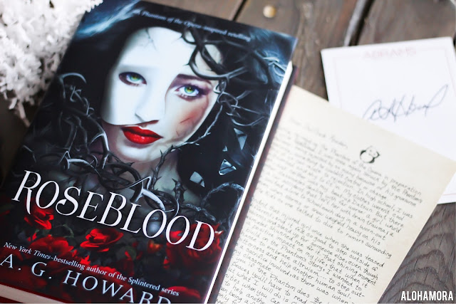 RoseBlood by A.G. Howard gets 2 out of 5 stars in my book review of this classic modern retelling/continuation of The Phantom of the Opera with a paranormal twist.  ya lit, teen read, owlcrate january 2017, high school, vampires, singing, slow read. Alohamora Open a Book