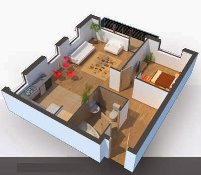 Come disegnare stanze ed edifici in 3d for Disegnare interni
