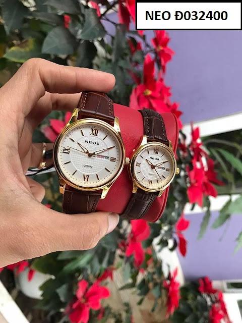 Đồng hồ cặp đôi dây da Neos Đ032400