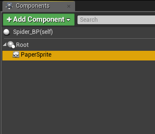 Delete PaperSprite in components list