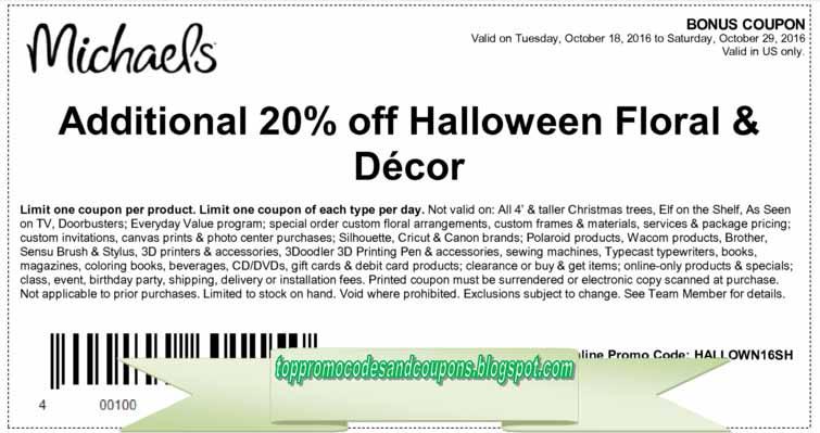 printable michaels coupons december 2019