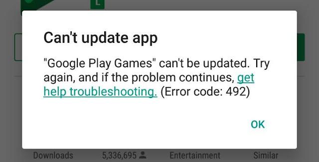 Cara Mengatasi Error Code Play Store