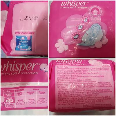 whisper feminine napkin review