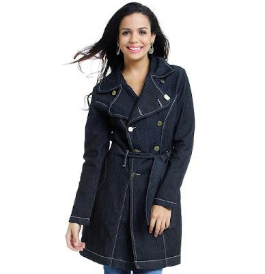 sobretudo feminino curto feminina mulher look inverno casaco lindo estiloso diferente estilo bonito moderno elegante moda jeans