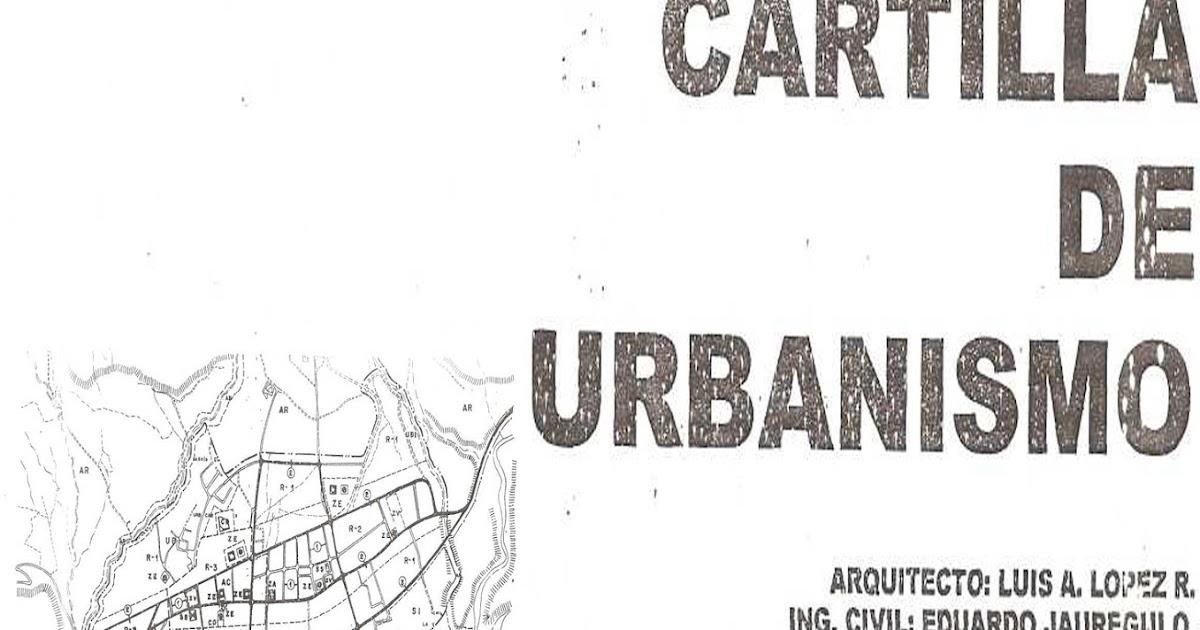 ingenieria civil: Cartilla De Urbanismo