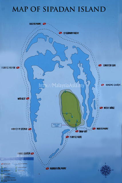 Dive Sites at Sipadan Island