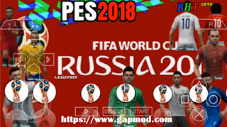PES Jogress v3 Mod Special World Cup Russia 2018 PSP Android