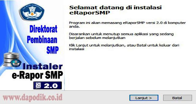 Aplikasi E-Rapor SMP Versi 2.0 Kemendikbud Edisi Revisi