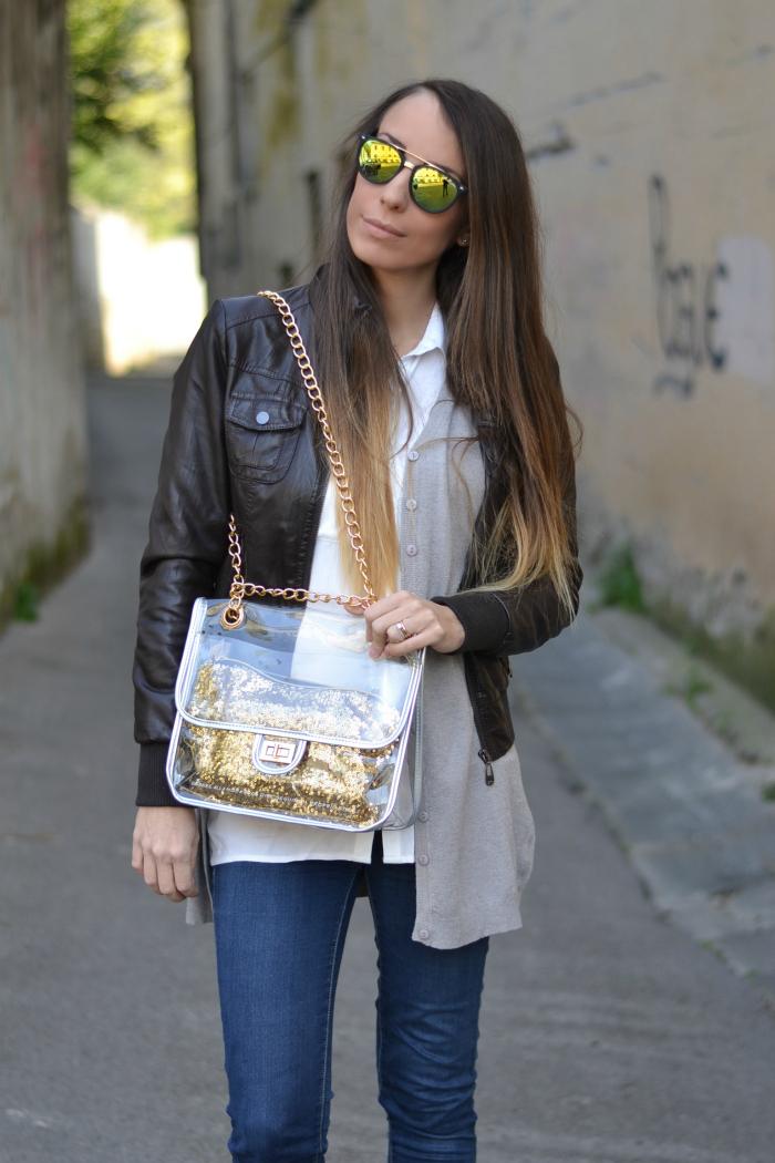 borsa trasparente bibi bag