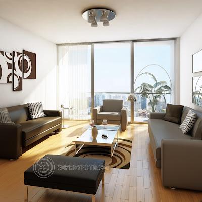 Vistas en 3d moderna sala comedor para arquitectura diseño ...