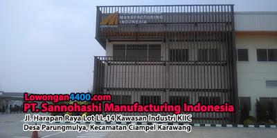 Lowongan Kerja PT. Sannohashi Manufacturing Indonesia Karawang