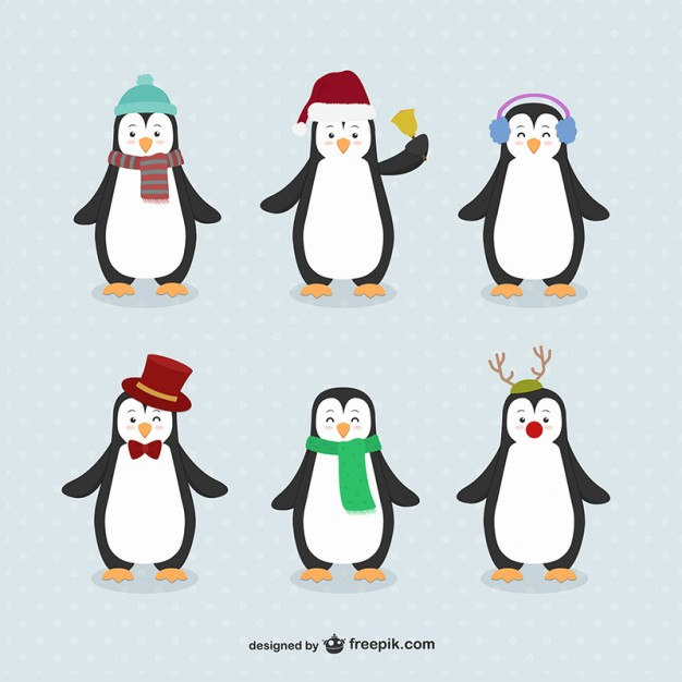 Penguin cartoons pack Free Download Vector