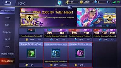 Meningkatkan Level Emblem dengan Membeli Chest