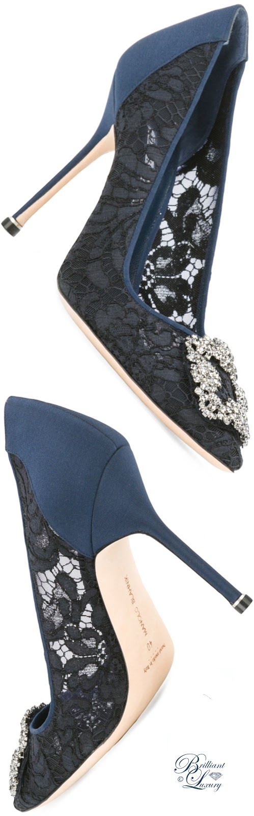Brilliant Luxury ♦ Manolo Blahnik Hangisi Lace Pumps