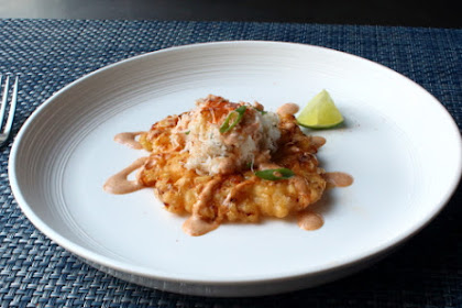Crispy Fresh Corn Fritters alongside Crab together with Chipotle Lime Dressing – The Other Popcorn