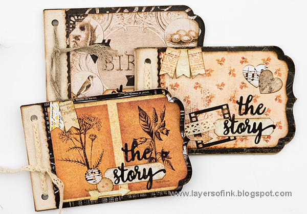 Layers of ink - Vintage Notebooks Tutorial by Anna-Karin with Sizzix dies by Lori Whitlock