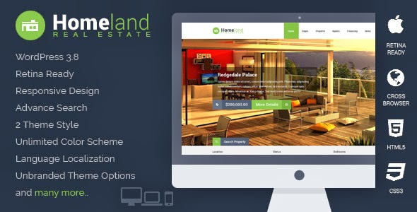 Homeland - Themeforest Responsive Real Estate WordPress Theme
