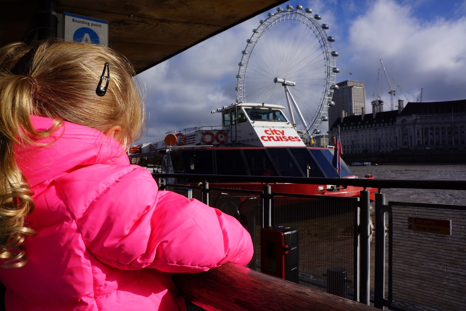 waiting for city cruises at westminster pier