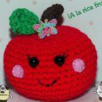 patron gratis manzana amigurumi