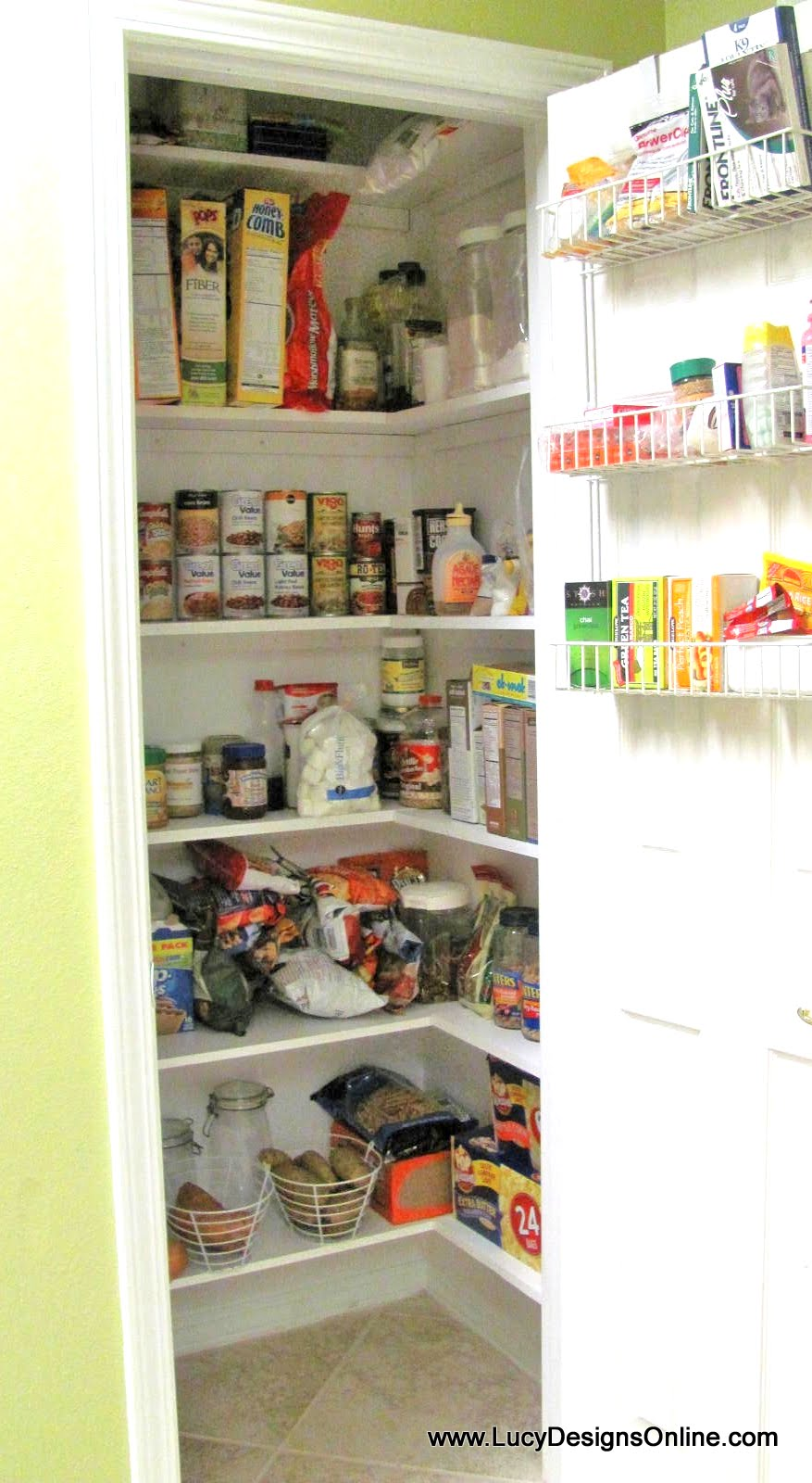 Top Kitchen Pantry Makeover DIY Installing Wood Wrap Around Shelving  OF98