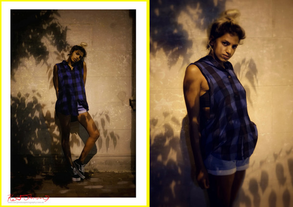 Under Mercury Vapours. A fashion story, P7-8. Photography by Kent Johnson.