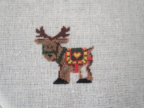 reno, punto de cruz, reindeer, rein, point croix, cross stitch