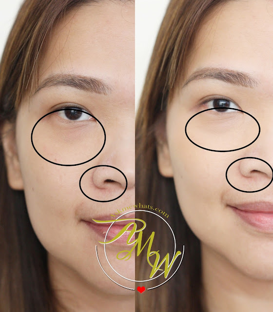 before and after photo of Happy Skin Bye Bye Blues Brightening Concealer medium