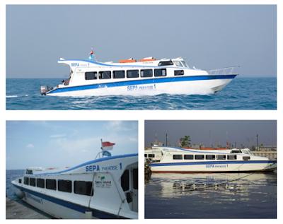 Speedboat ke Pulau Sepa