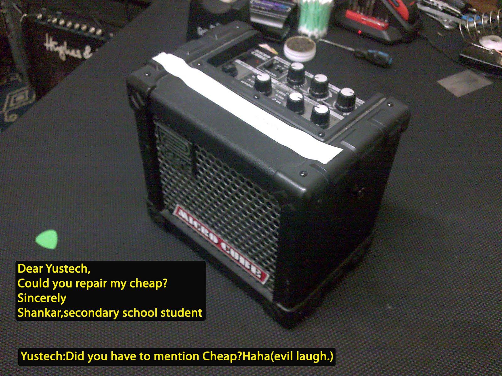 Membaiki alatan muzik : Roland Micro Cube
