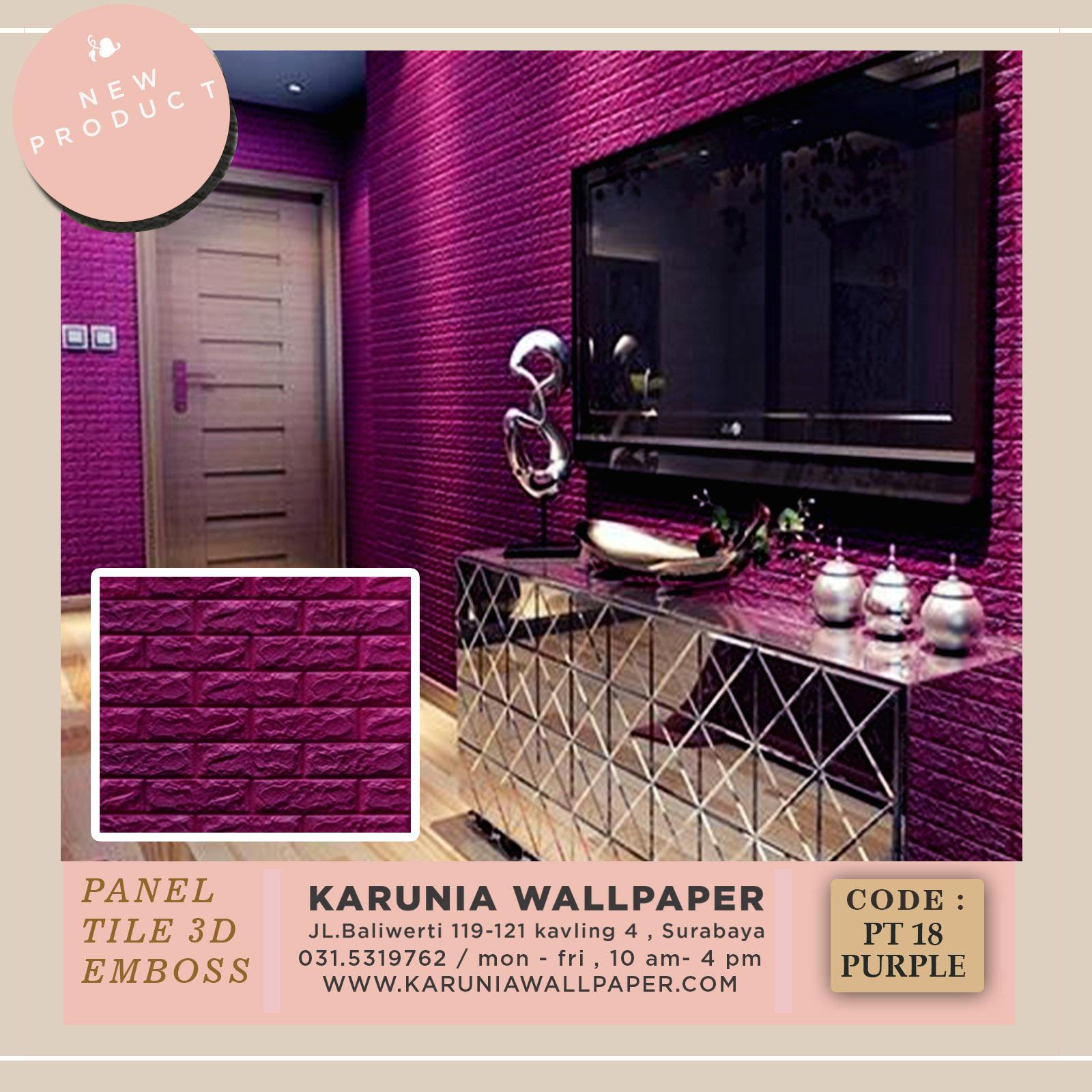 jual dinding timbul dekorasi kamar ungu