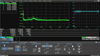 Opening up the top frequency to 10 MHz reveals a large amount of noise in the 2-3 MHz range