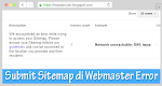 Mengatasi Submit Sitemap Error Network Unreachable DNS Issue