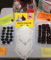 Chocolate displayed for the chocolate lover's library program