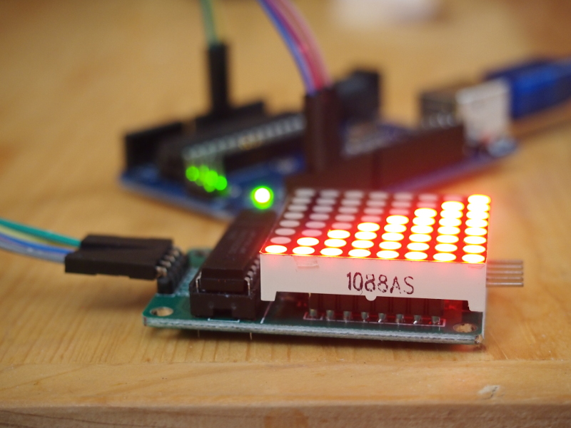 16x16 led matrix control using arduino part 1 : Zrx coin jar