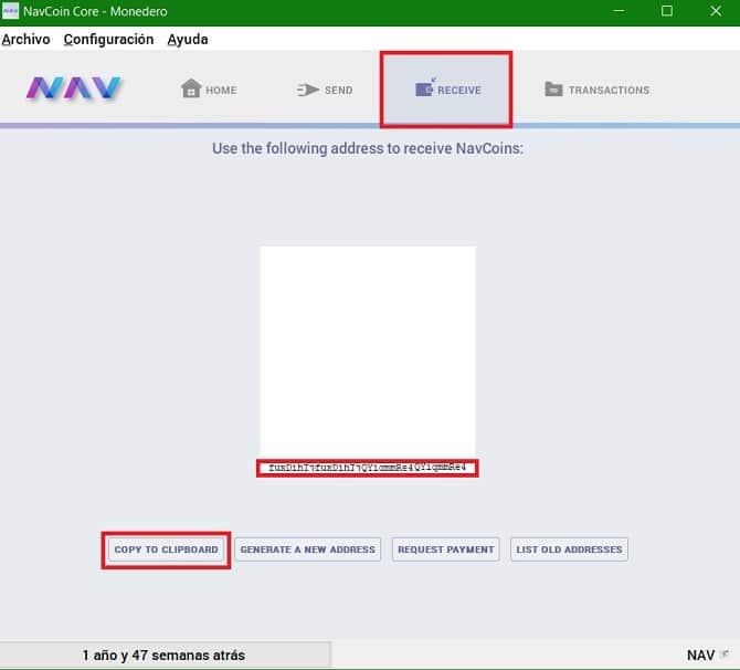 Cómo enviar monedas virtuales NAV COIN