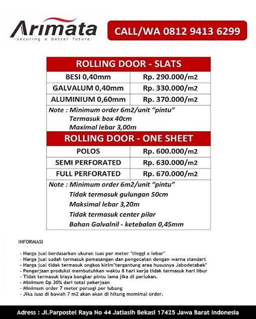 Harga Rolling Door