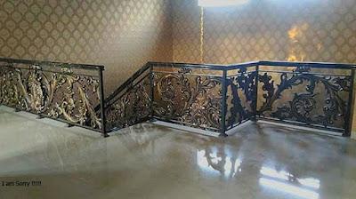 balkon railing tempa untuk rumah mewah