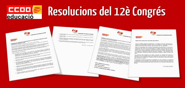 Resolucions del 12è Congrés de la Federació d'Educació