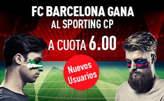 sportium Supercuota 6 Barcelona gana Sporting Lisboa 27 septiembre