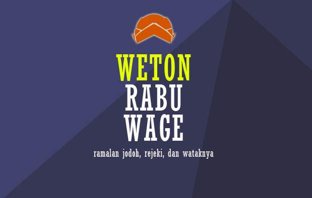 Weton Rabu Wage