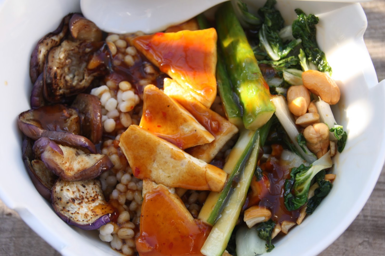 Tofu vegetable bowl