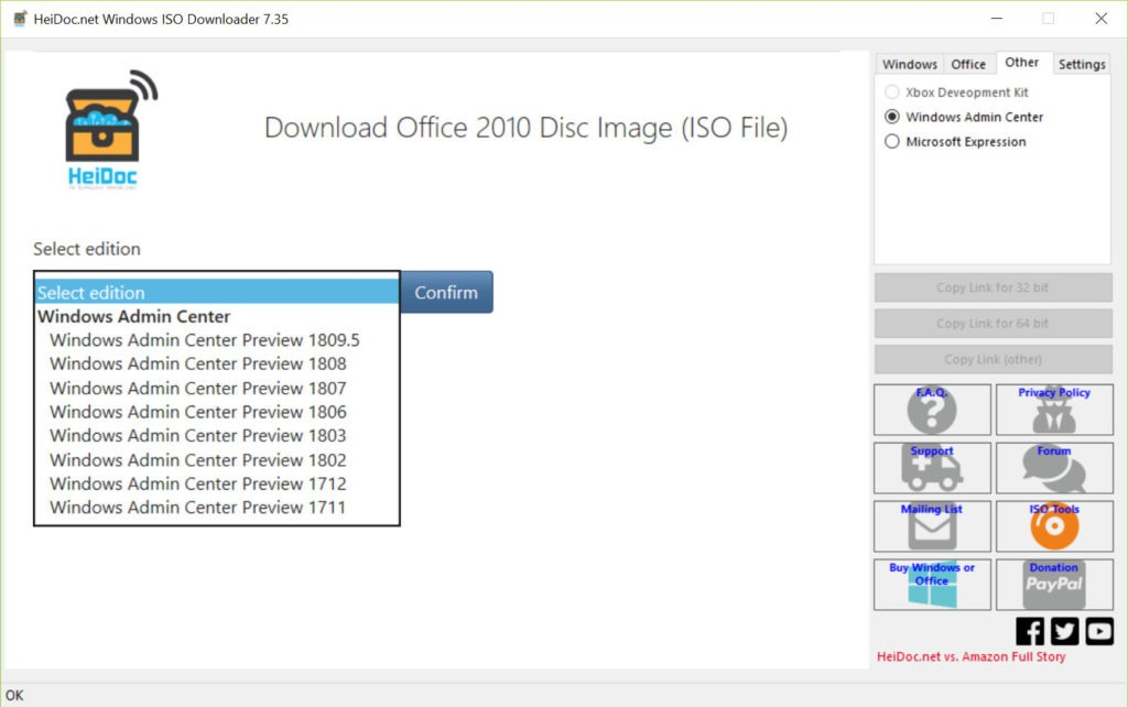 Windows et Office ISO Downloader Tool 8.08