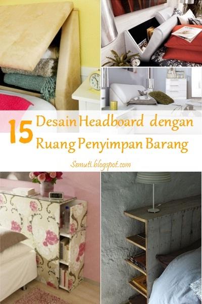 15 Desain Headboard dengan Ruang Penyimpan Barang
