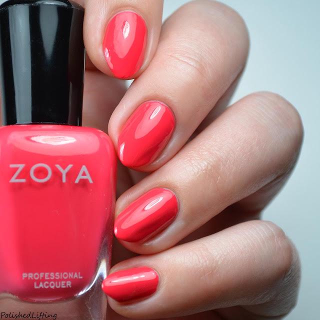 bright red nail polish swatch