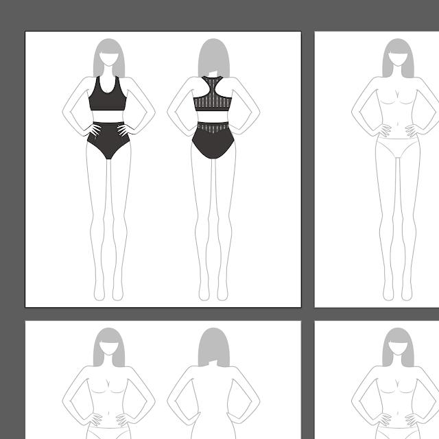kukka croquis lingerie design process