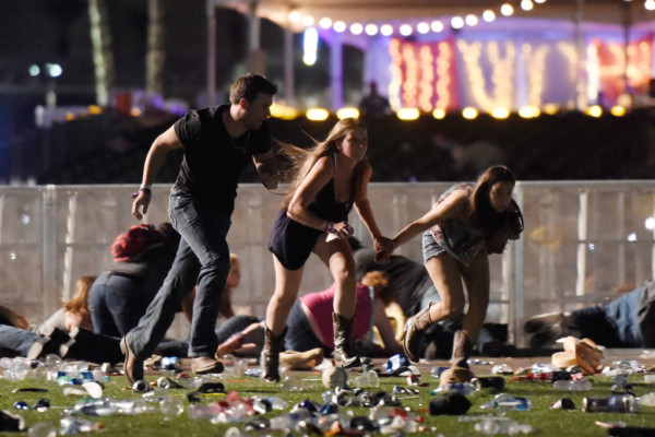 gunman opened fire into a music festival in Las Vegas