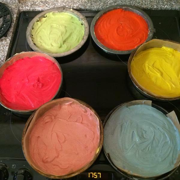 Resep Rainbow Cake Enak dan Empuk