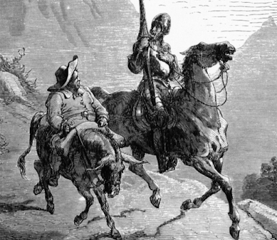 "The first modern novel, ""Don Quixote"" was written by a Spaniard named Miguel de Cervantes in 1605."