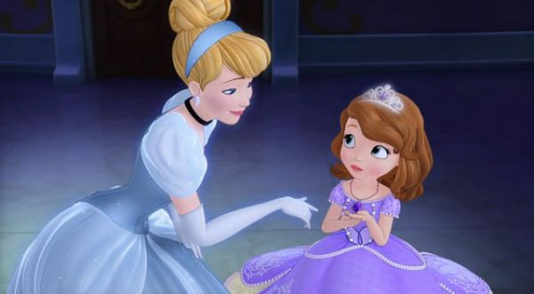 CINDERELLA: Your amulet brought me here, it links all the princesses that ever were.